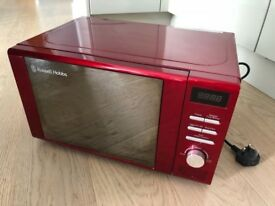 Russell Hobbs Red Microwave 800w – RRP £75