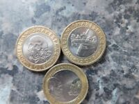 3 COLLECTABLE SHAKESPEARE £2 COINS
