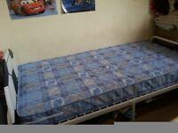 Kids bed almost new mattress football headboard