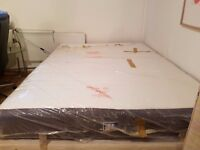 Ikea King Size Hovag Mattress Excellent Condition! in packaging only a year old WITH BASE & TOPPER!