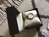 Rotary rose gold watch brand new.
