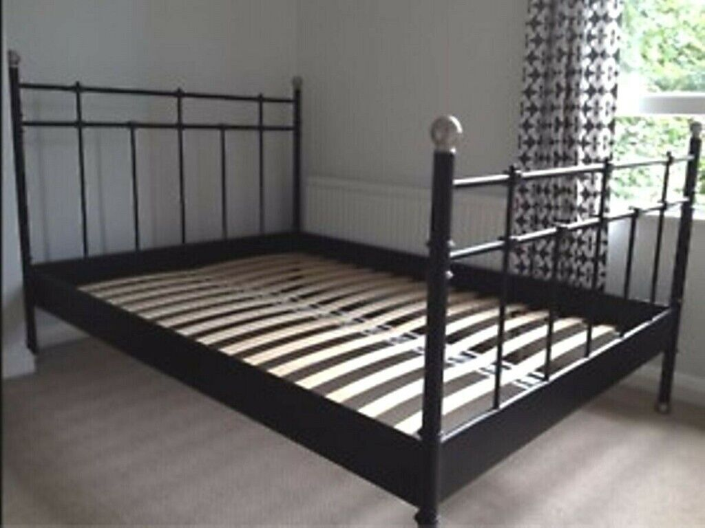 Ikea Svelvik Double Size Black Metal Bed Frame In Stoke Newington London Gumtree