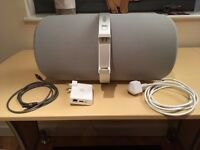 Nad Viso 1 audio dock iPhone speaker with Apple Airport Express and Toslink optical cable