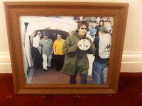 OASIS framed Manchester city maine road original photograph print fujicolor 10x12inch circa 90s