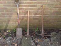 Shovel,pick axe, 7lb hammer, collect Petts Wood