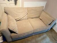 Homebase Wyatt Sofa Tattersall Mink & Removable Covers Hardly Used Superb Cond