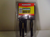 PACK OF 5 NEW PAINTBRUSHES BY MANGERS