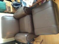 Kroehler Leather Chair/Ottoman