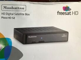 UNUSED BOXED MANHATTON FREEVIEW HD SET TOP BOX UNUSED. BOXED