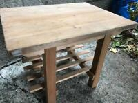 PROJECT pine 2 tier coffee/side table FREE DELIVERY PLYMOUTH AREA