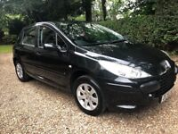 EXCELLENT PEUGEOT 307 1.6 HDI 5DR PANTHER BLACK