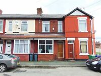 2 bed house, Moston, close to schools, shops, transport, 2 reception rooms, gas heating, D glazed