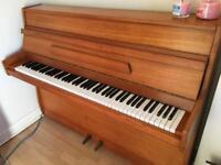 Barrett & Robinson upright piano teak satin finish