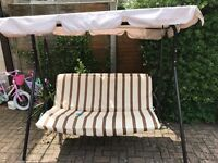 Garden swing seat and canopy