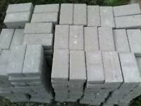 Over 350 new grey block paving bricks