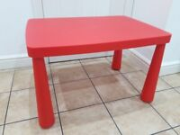 Red children's play table