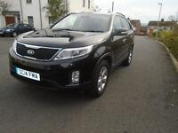2014 KIA SORENTO KX-2 SAT NAV 4WD 2.2 CRDi AUTO 7 SEATS FKSH land rover smax xc90 galaxy sharan cx-7
