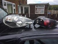 Peugeot. 206 sports headlights and rear lights