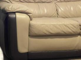 3&2seater leather sofa