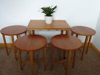 **SOLD**Vintage Mid Century Teak and Beech Poul Hundevad Inspired Nesting Tables