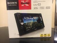 (((Sony XAV-63 Double Din Touchscreen Multimedia Station CD PLAYER/DVD/AUX💯
