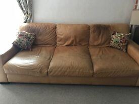 Tan Leather Sofa