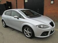 2007 (57) SEAT LEON TDI DPF FR DIESEL 6 SPEED Part exchange available /Credit & Debit cards accepted