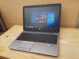HP ProBook 650 Laptop Like New - Core i5 - Windows 10 Pro and Full Office