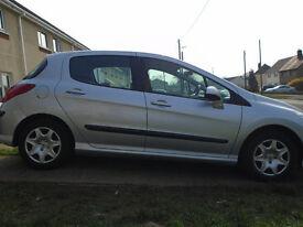 Peugeot 308 1.6HDi 5 door manual, £30 yr tax, MOT Feb 18