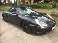 PORSCHE BOXSTER 2.7 CONVERTIBLE ROADSTER, 12 MONTH MOT, MANUAL, FULLY LOADED TRIPLE BLACK EDITION