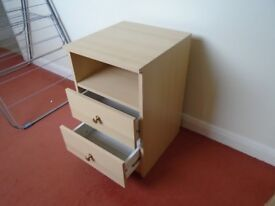 Bedside unit with two drawers