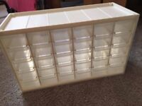 Translucent 30 Drawer Storage Container