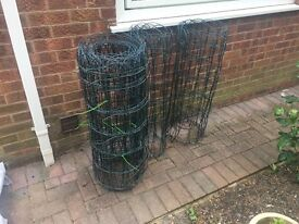 plastic covered fencing 3ft high