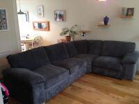 Right hand grey corner sofa