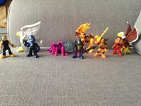 Imaginext figures x5 men x4 Animals/insects that go with them
