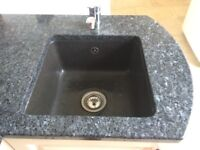 High quality Polished granite worktops c/w sink and taps - ideal for utility room or BBQ area
