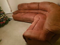 CORNER SOFA WITH RECLINERS
