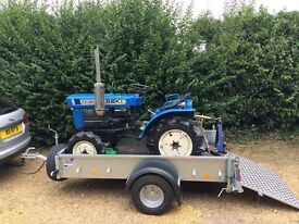 Ifor Williams P7e trailer with ramp and rear stands