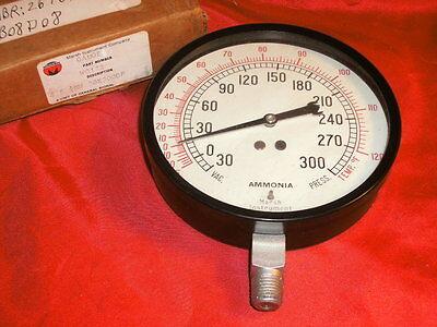 Marsh W0132 Ammonia Gauge -35to -125f 4.5 30 X 300 Diff Pressure 14 Bottom