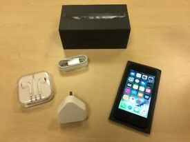 Black Apple iPhone 5 16GB Mobile Phone On O2 / Giff Gaff / Tesco + Warranty