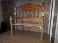 Handmade child's bench