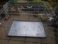 Large Metal Silver Dog Cage Fold-able Suit German Shepherd, Husky, Large Dogs.
