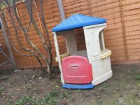 Little outdoor playhouse for children
