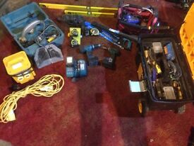 Joblot quality tradesmen tools. Makita cordless