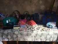 Job lot all new with tags handbags scarfs purses and custome jewellery