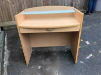 Dressing table with makeup drawer