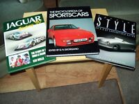 books on sports cars, mint condition