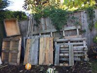 Wood pallets etc