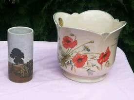 Plant holder & small vase