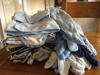 Baby boys 0-3 month bundle of clothes 38 pieces
